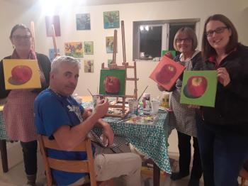 apple painting workshop